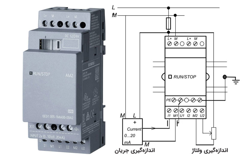 ماژول AM2 ولتاژی-جریانی|کارت ورودی آنالوگ لوگو