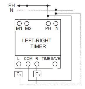 راهنمای نصب و تنظیم تایمر چپگرد - راستگرد شیوا امواج