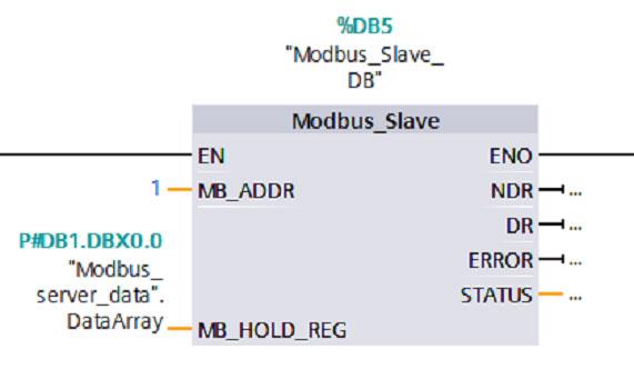 پارامترها در Modbus_Slave