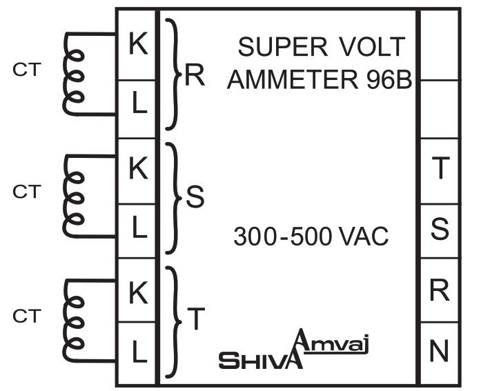 راهنمای نصب و تنظیم سوپر ولت آمپرمتر 96B شیوا امواج
