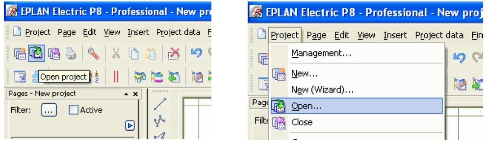 بازکردن پروژه ایپلن- پرکاربردترین ابزارهای طراحی در eplan