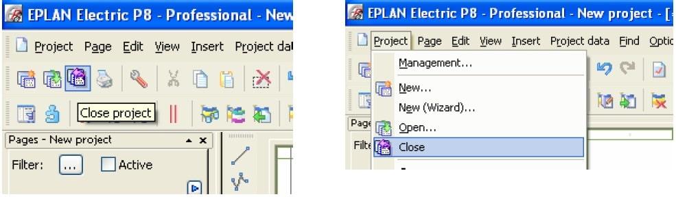 بستن پروژه از ضروریترین ابزارهای طراحی در eplan