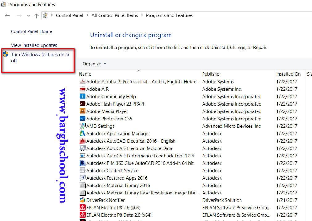 تغییر در برخی تنظیمات اولیه ویندوز برای کرک EPLAN برای ویندوز10