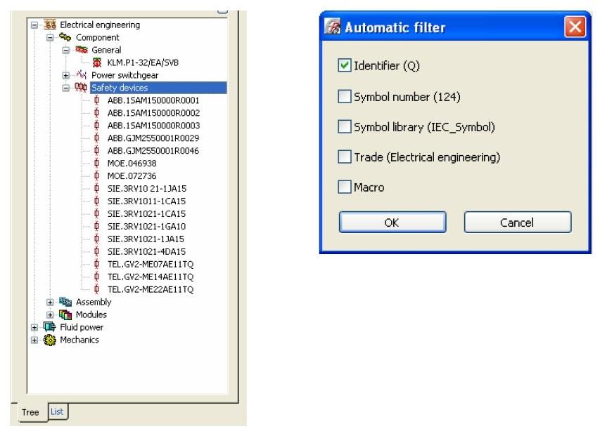 تنظیمات فیلتر سیمبل