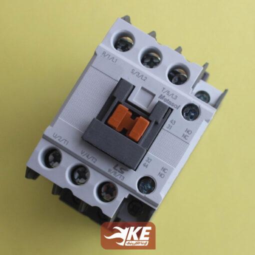 نمای جلوی کنتاکتور 9 آمپر 220ولت LS