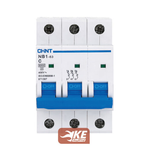 کلید مینیاتوری 6KA سه پل 10آمپر C سری NB1 چینت