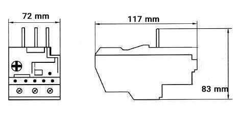 ابعاد بیمتال سری NR2-93 چینت