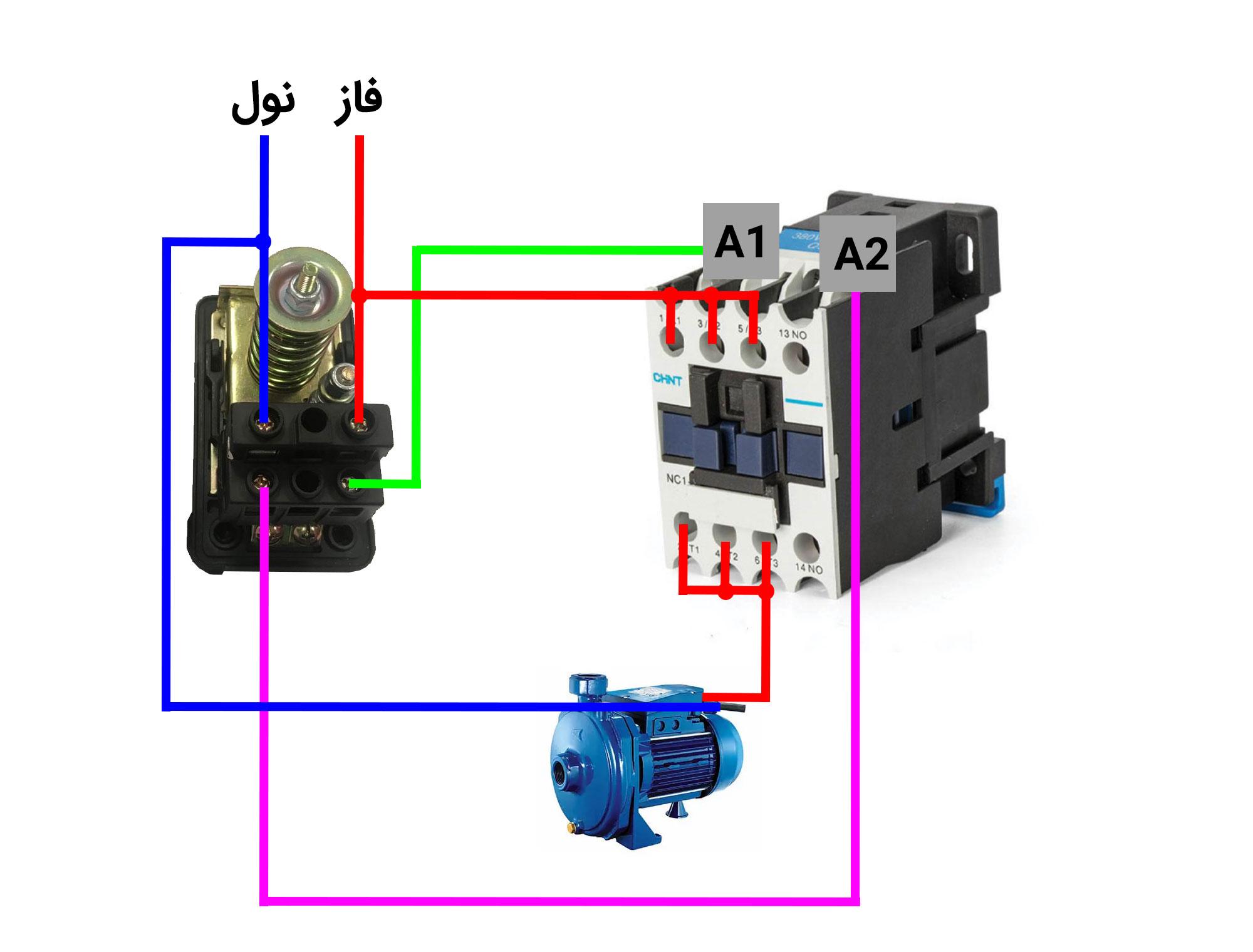روش نصب کنتاکتور برای پمپ آب
