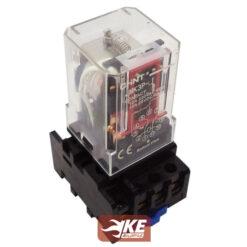 رله 3کنتاکت 11پایه 220ولت چینت+سوکت