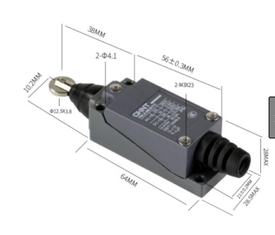 ابعاد لیمیتسویچ قرقره فشاری مستقیم چینت ME8112