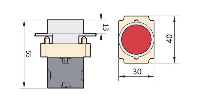 ابعاد شستی استپ فلزی چینت